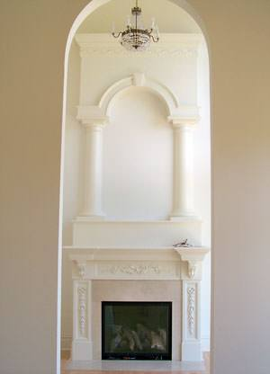 Fireplace Mantles, Columns, & Surrounds