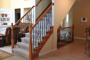 Wood Banisters And Railings From St Charles Hardwoods